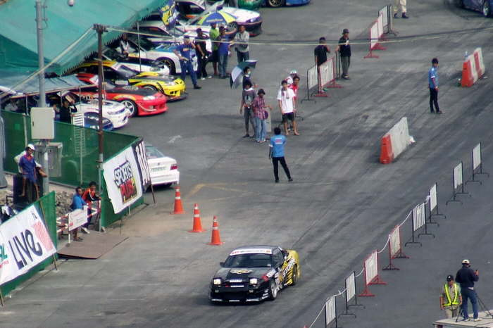 Start zum Car Drift Race in Pattaya